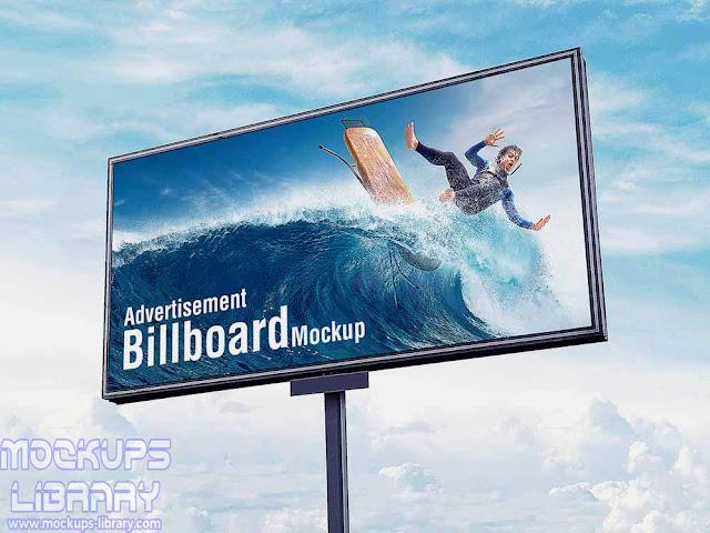 outdoor sky billboard mockup