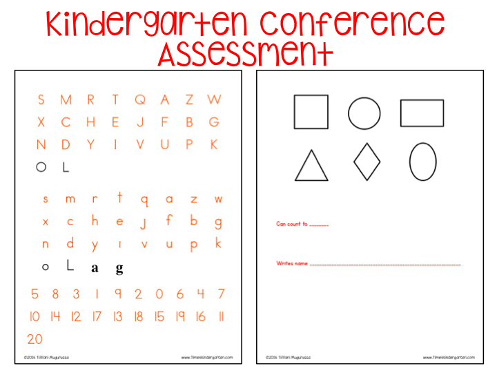 kindergarten assessment, parent teacher conferences