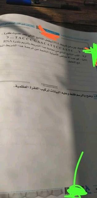 امتحان الأحياء للثانوية العامة 2019 8