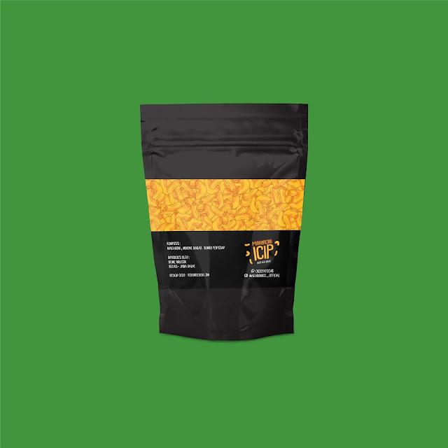 Desain Kemasan Makaroni Icip, Solusi Memulai Usaha Snack