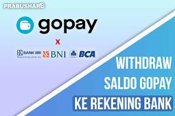 Cara Tarik Saldo  GoPay ke Rekening Bank Gampang Banget!