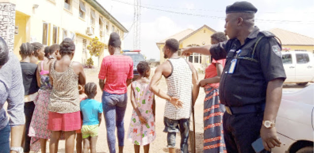 Ten pregnant girls and children rescued from a baby factory in Ogun