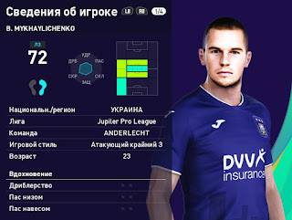 PES 2021 Faces Bohdan Mykhaylichenko by Serge
