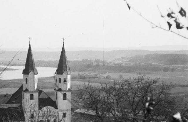 Kloster Gars am Inn - 1920/1940 - Detail - Im Hintergrund Thal und Gars Bahnhof