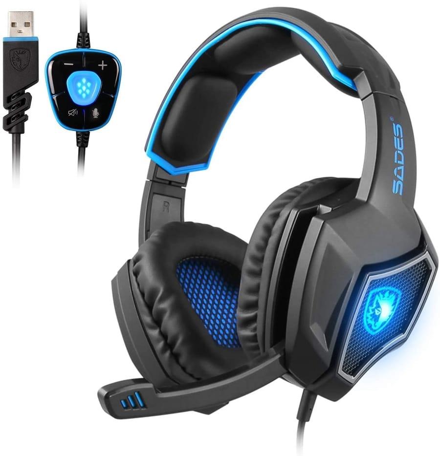 Review SADES SpiritWolf 7.1 Surround Sound Gaming Headset