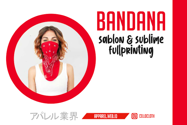 Bandana Sablon and Sublime Full Printing Desain Full Color