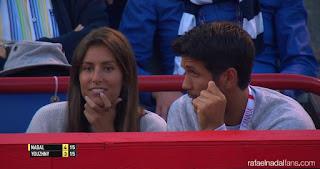 Fernando and his girlfriend, Ana, watching a tennis game