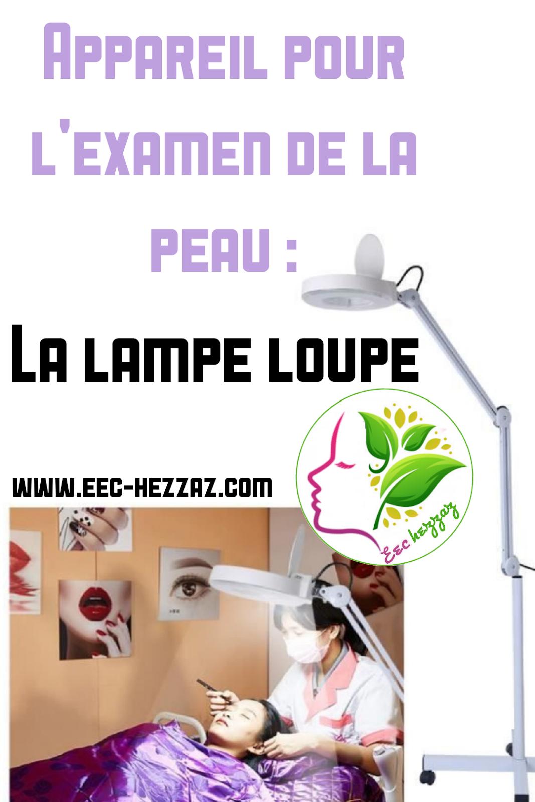 Appareil pour l'examen de la peau : La lampe loupe