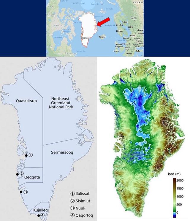 peta pulau greenland