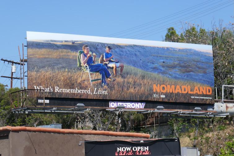 Nomadland Academy Award nominee FYC billboard