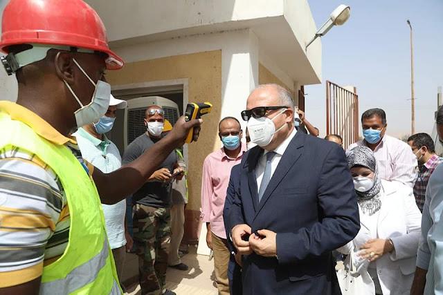 بدء التشغيل التجريبي لمشروع الصرف الصحي لمدينة نقادة بقنا