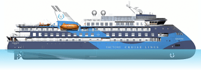 Victory Cruise Line's New Ocean Discoverer To Sail in Alaska in 2023.Sunstone Ships, X-bow, New Build