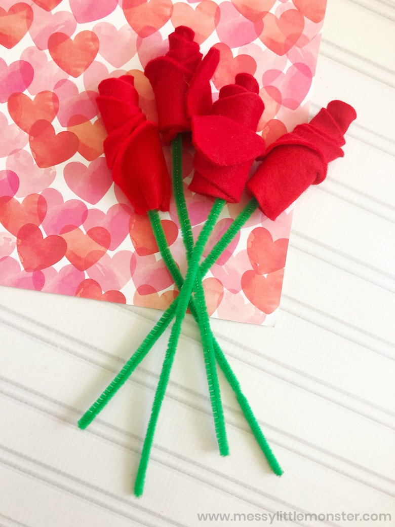 Roses Valentine's Day crafts for preschool