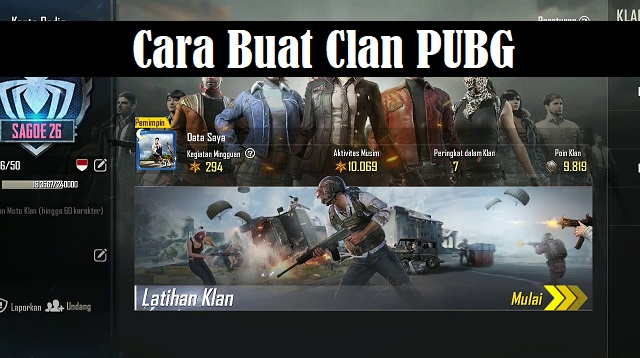 Cara Buat Clan PUBG