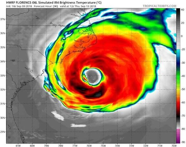 URGENTE: Emiten Estado De Emergencia En Carolina Del Norte , Se Espera Que  El Huracán Florence Impacte Como Un Potente Huracán.