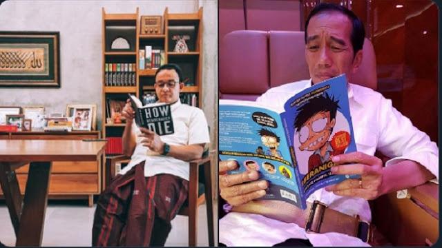 """Warganet Bandingkan Buku 'Berat' Anies dengan Komik Si Juki Bacaan Pak Jokowi, """"Beda Kelas"""""""