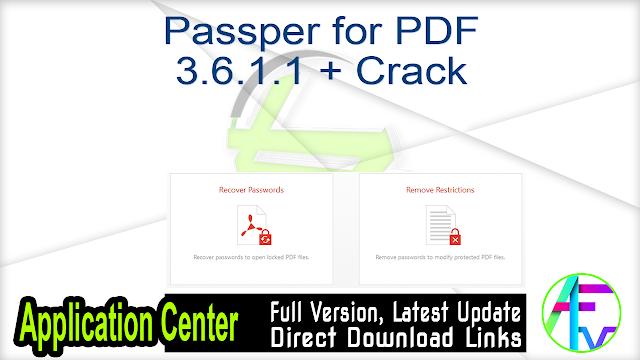 Passper for PDF 3.6.1.1 + Crack