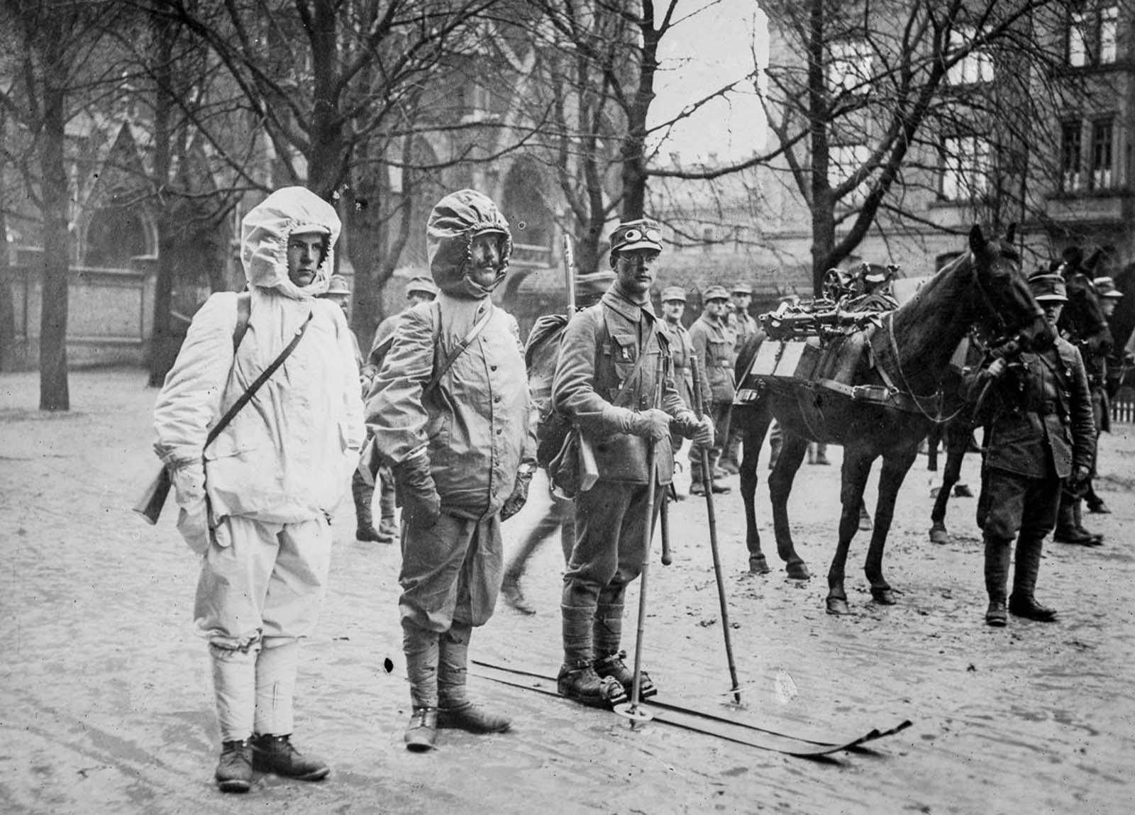 German alpine soldiers. 1915.