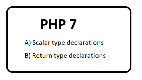 PHP 7  Scalar type declarations and return type declarations