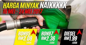 Thumbnail image for Harga Minyak Untuk 18 Mei Hingga 24 Mei 2017, Naik Sikit Sahaja