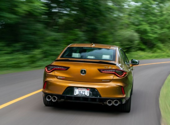 Tampilan Belakang Acura TLX Tipe S
