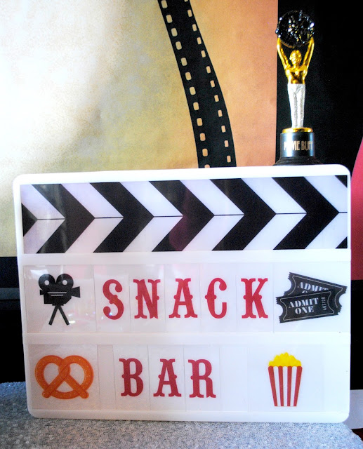 Serve up a snack bar for your Oscar party. Get inspiration at www.fizzyparty.com