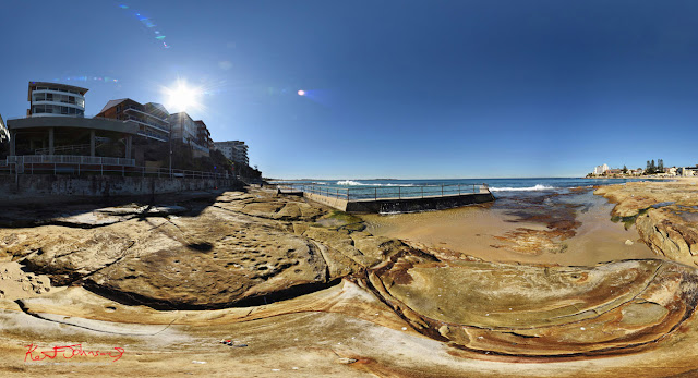 North Cronulla ocean pool in 360VR photography by Kent Johnson Travel photographer, Sydney, Australia.