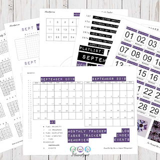 September 2019 Bullet Journal / Planner Free Printable Stickers!