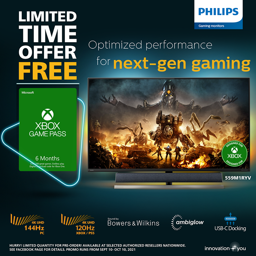 Philips Momentum: World's First Monitor Designed for Xbox