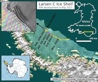 Iceberg 300 mil vezes maior que o do Titanic pode se desprender da Antártida