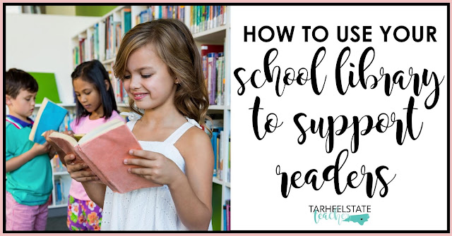 How can you utilize your school library in ways that help growing/struggling readers? I've shared two ways I help my students get the most of out of school library time. When my upper elementary students visit the media center, it's all about choosing JUST RIGHT books, and I am there to help them along the way!