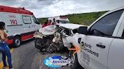 Grave acidente na BR 304, próximo a Caiçara do Rio do Vento no RN (VEJA VÍDEO)
