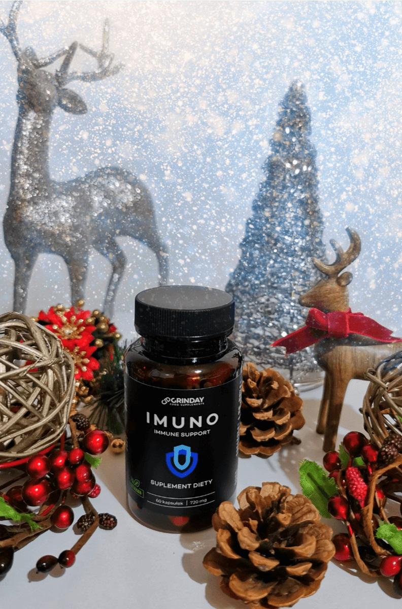 Wzmocnienie organizmu w okresie jesienno - zimowym - Suplement Grinday Imuno