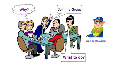 Social media group explained by Jyoti