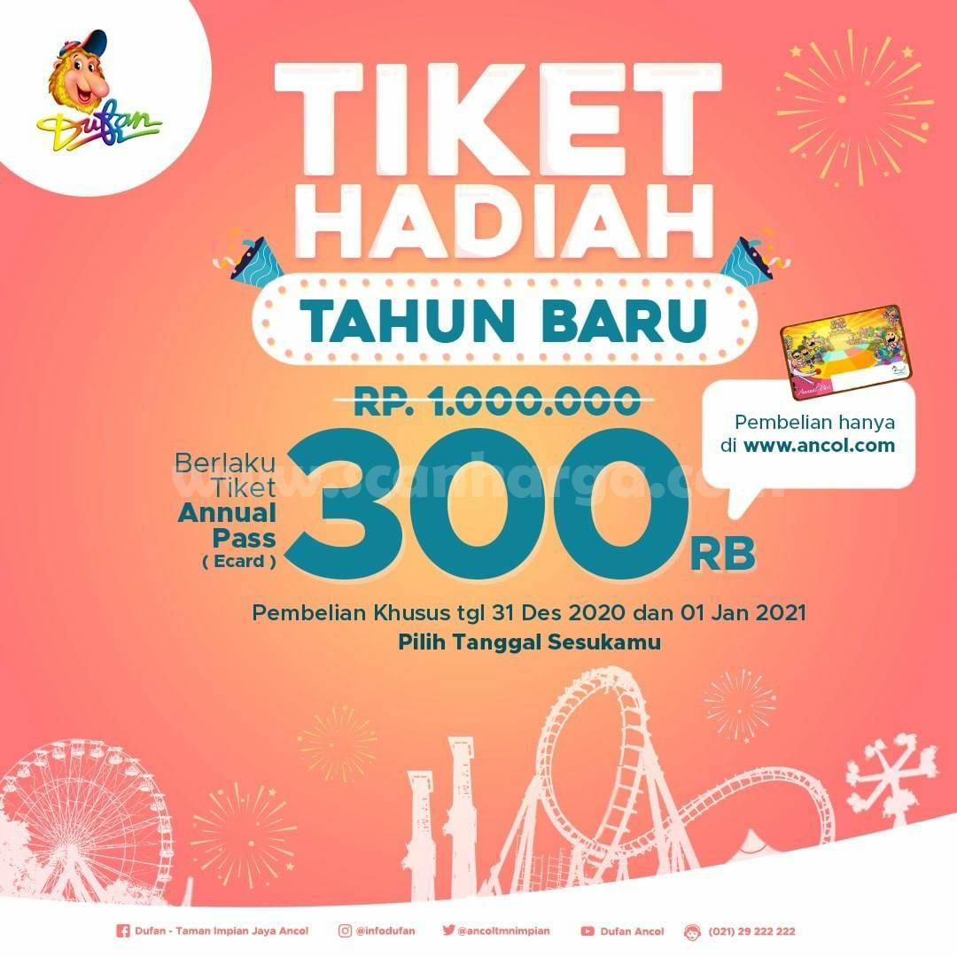 DUFAN Promo Tiket HADIAH TAHUN BARU