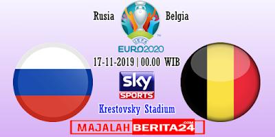 Prediksi Rusia vs Belgia — 17 November 2019