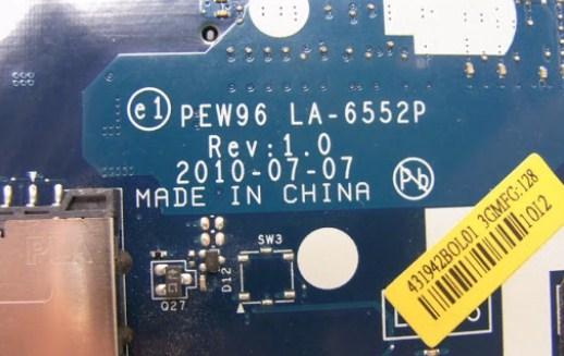 LA-6552P Rev 1.0 acer 5552 Bios bin