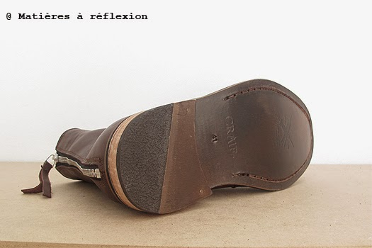 l 39 atelier mati res r flexion boots homme montantes cuir choco craie. Black Bedroom Furniture Sets. Home Design Ideas