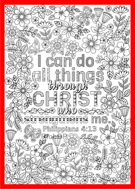 i can do all things through christ coloring page