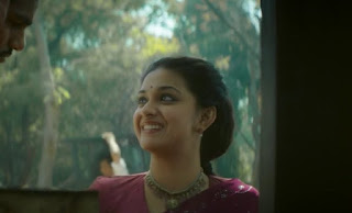 Keerthy Suresh in Saree with Cute Smile in Mahanati 2