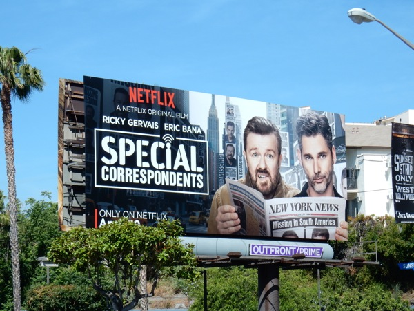 Special Correspondents Netflix movie billboard