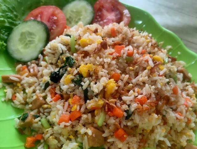Resep nasi goreng pelangi