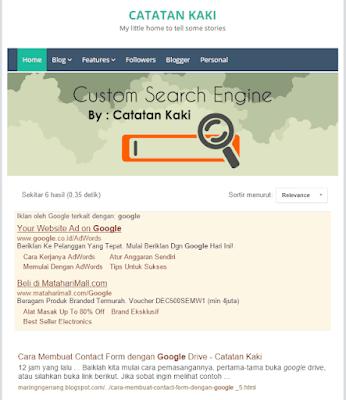 Mengaktifkan Sort by Relevance di Custom Search Engine