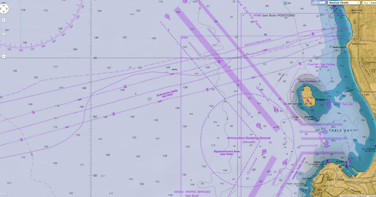 Geogarage Blog Nautical Maps No Safeguard Against Subsea