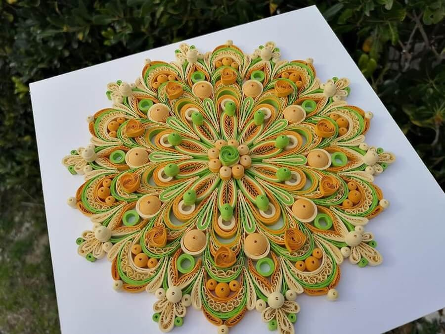 06-Green-and-Orange-Mandala-Quilling-Branka-Miletić-www-designstack-co