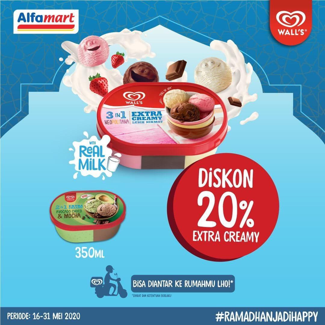 Alfamart Promo Walls Diskon 20 Extra Creamy Untuk Item Es Krim Pilihan Scanharga
