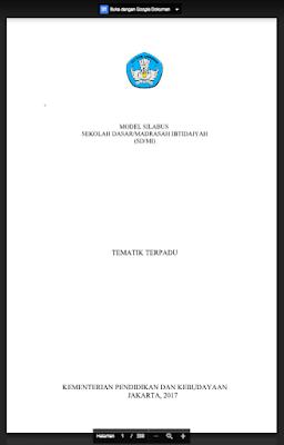 Silabus Kurikulum 2013 Revisi 2017 Kelas 4 SD/MI