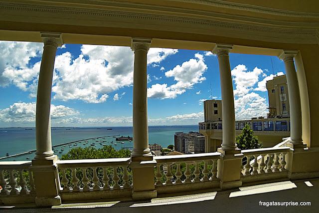 Vista da Baía de Todos os Santos da varanda do Palácio Rio Branco, Salvador, Bahia