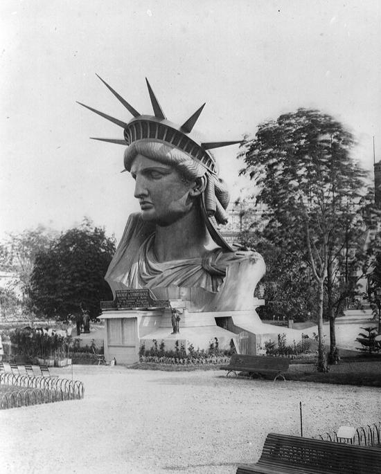 La cabeza, expuesta en la Exposición Universal de París en 1878
