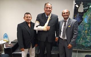 Líder do governo no Congresso, Senador Eduardo Gomes (MDB-TO), recebe Comitiva Pró Estado do Tapajós